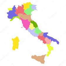 Itsly Map Italy Map U2014 Stock Vector Nataly Nete 7149563