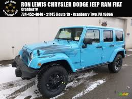 jeep chief 2017 chief blue jeep wrangler unlimited winter edition 4x4