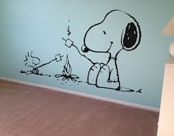 snoopy murals on walls snoopy peanuts wall decal vinyl wall