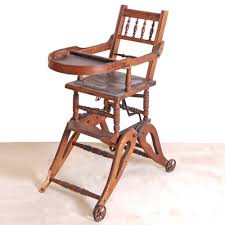 Antique Wooden High Chair Antique English Victorian Black Lacquered Chair Ebth