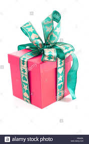 christmas birthday gift box present surprise multicolor stock