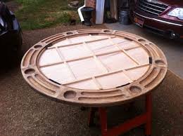 how to build a poker table refinished poker table the diy village