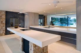 bathroom modern kitchen design with cozy solid surface