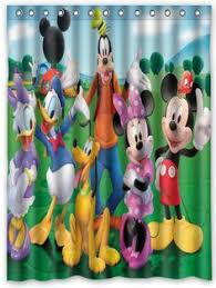 Mickey Mouse Bathroom Accessory Set Disney Shower Curtain Mickey Mouse Shower Hooks New 70in X72in