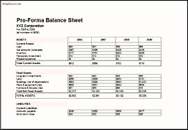 Pro Forma Financial Statements Excel Template Proforma Balance Sheet Templatezet