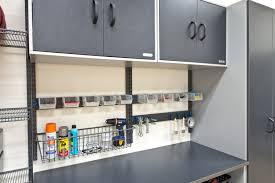 Garage Wall Organizer Grid System - organized living freedomrail garage storage and cabinets
