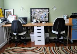 Office Desk For Two Magnificent 2 Person Office Desk Home Design Ideas