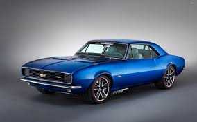 blue chevrolet camaro blue 1967 chevrolet camaro front side view wallpaper car