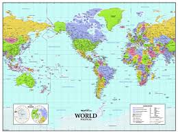 Pacific Time Zone Map World Time Zones Wall Map Maps Com