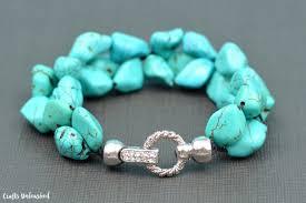 craft bracelet beads images Diy bead bracelet stone cluster crafts unleashed jpg