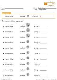 primaryleap co uk giving change worksheet