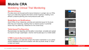 consolidating clinical trial management mobility and monitoring