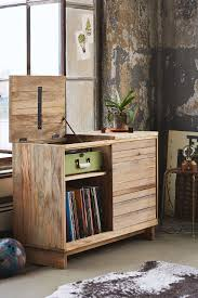 Media Storage Shelves by Wooden Media Console Industrial Shelves Consoles And Industrial