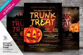 halloween flyer background free halloween trunk or treat flyers flyer templates creative market
