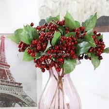 Wedding Home Decoration Decorative Blueberry Fruit Berry Artificial Flower Silk Flowers