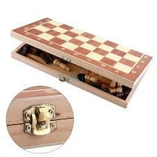 durable wooden large folding chess board u0026 chess pieces set