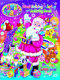 lisa frank peace love and joy holiday giant coloring and