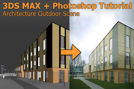 3d max home design tutorial 3ds max photoshop tutorial add billboard tree and people to