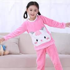 winter pajamas children fleece pajamas warm sleepwear