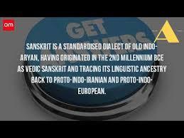 how did sanskrit originate