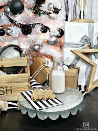 modern black and white christmas tree taryn whiteaker