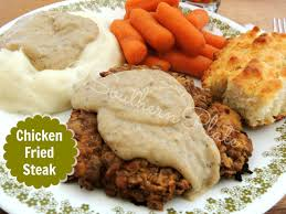 chicken fried steak southern plate