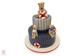 sailor teddy bear cake custom baby shower cakes