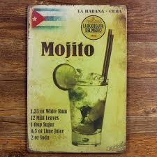la habana cuba mojito beer home decor 20 30 cm metal crafts for