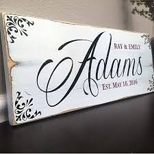 wedding gift name sign best 25 wooden name signs ideas on diy house name