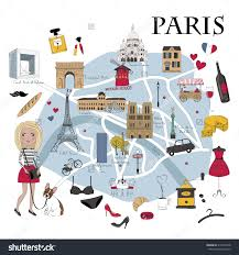 Paris France Map by Map Of Paris With Monuments New Zone