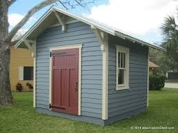 Exterior Shed Doors 10 X10 Craftsman Shed Exposed Rafters Low Pitch And Single Doors
