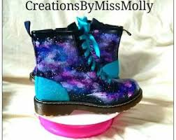 galaxy shoes light up galaxy boots etsy
