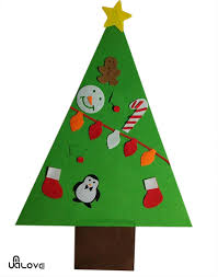 2 7ft tall felt childs christmas tree door wall hanging decor