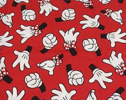 mickey wrapping paper 90x140cm disney mickey mouse minnie mouse thick canvas fabric