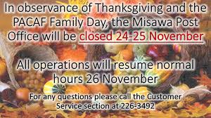 see the attached slide for our misawa post office