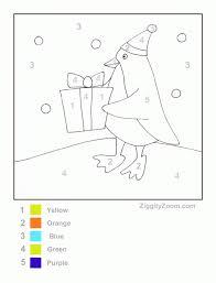 penguin color number printable ziggity zoom