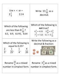 comparing and ordering fractions and mixed numbers worksheet 28 best fractions compare order images on math