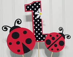 Ladybug Baby Shower Centerpieces by Ladybug Decorations Etsy