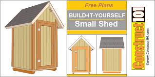 Small Backyard Shed Ideas Small Garden Shed Plans 4 U0027x4 U0027 Gable Shed Construct101