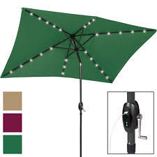 solar powered patio umbrella ebay