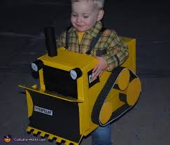 Truck Driver Halloween Costume Bulldozer Diy Halloween Costume Boys Photo 3 3
