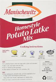 manischewitz latke mix manischewitz homestyle potato latke mix 6 ounce