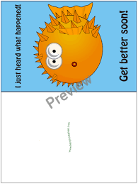 get better cards printable get well soon card