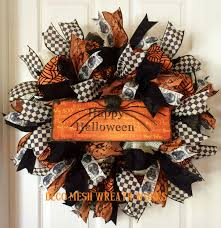 Deco Mesh Halloween Wreath Ideas by Halloween Wreath Halloween Wreaths Spider Wreath Skull Wreath