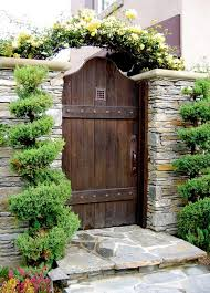 Rustic Landscaping Ideas For A Backyard Rustic Landscape Yard With Garden Passages Designer Wood Gates
