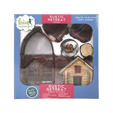 Design Your Own Kit Home Online by Arcadia Garden Products Rustic Retreat Polyresin Fairy Garden Kit