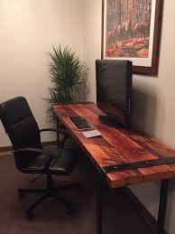 Industrial Standing Desk by L Shaped Desk Industrial Desk Reclaimed Wood Desk Office