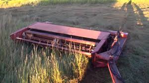 cutting field grass with my hesston pt 10 haybine 8 3 15 youtube