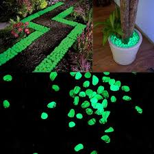 glow in the pebbles 100 pack glow in the fluorescent garden pebbles efizzle