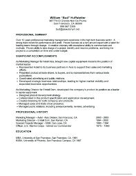 Marketing Professional Resume Job Resume Sample Berathen Com